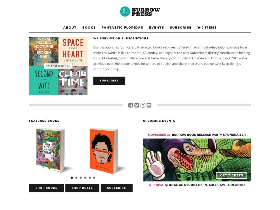 Burrow Press - WooCommerce Showcase