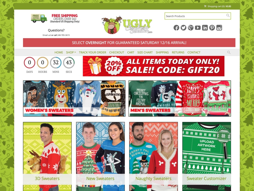 UglyChristmasSweater.com - WooCommerce Showcase
