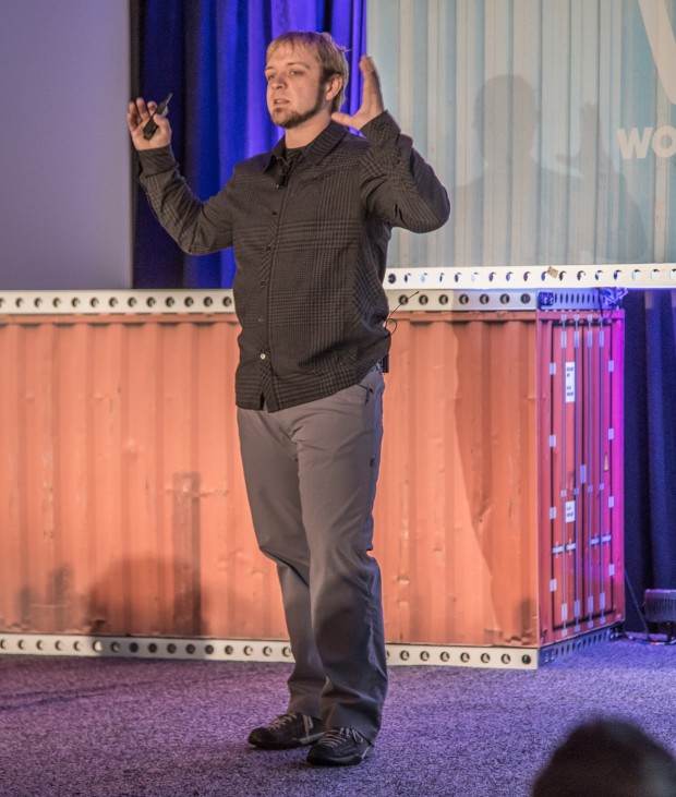 Curtis McHale on Stage at WooConf