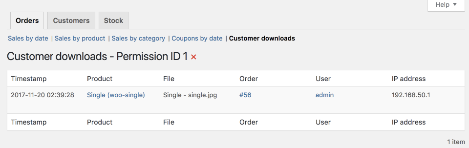 Product downloads are logged and can be viewed and analyzed