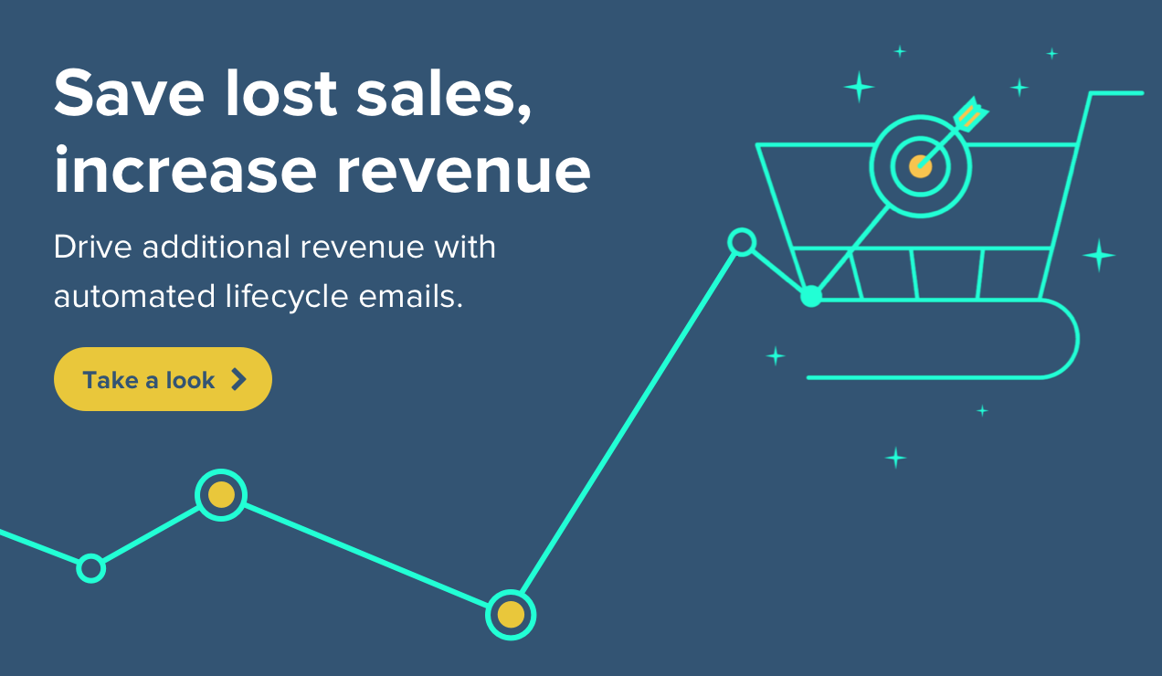 Save lost sales, increase revenue with automated lifecycle emails