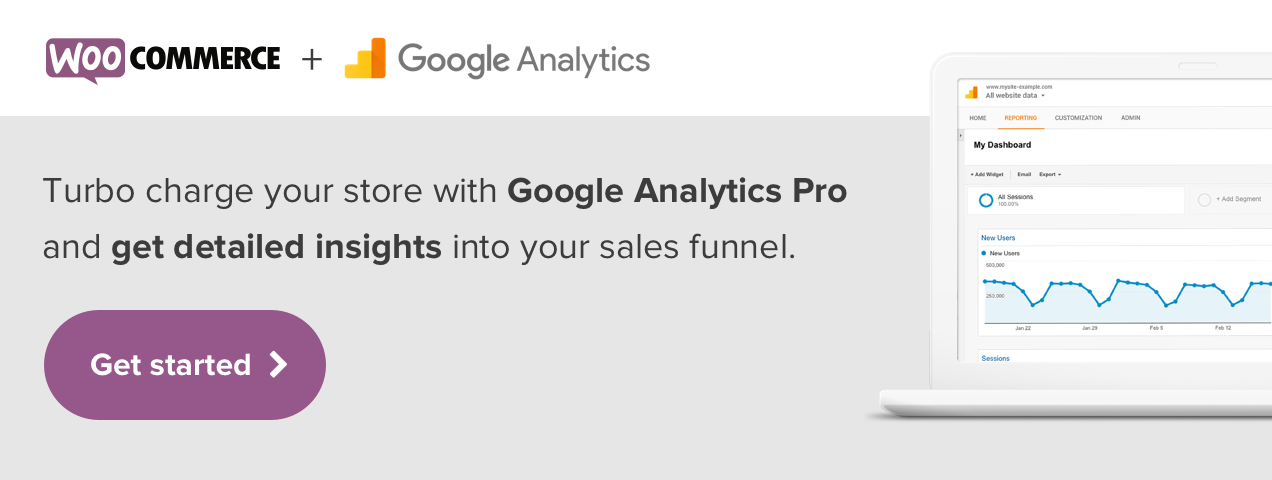 Turbo charge the integration between your WooCommerce store and Google Analytics and get detailed insights into your sales funnel