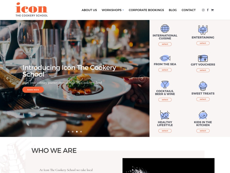 Icon The Cookery School - WooCommerce Showcacse