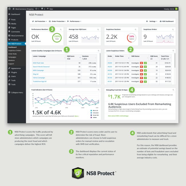 NS8 Protect Dashboard