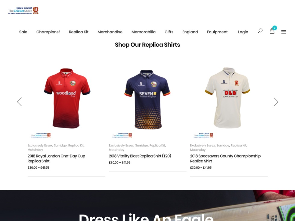Essex County Cricket Club - WooCommerce Showcase