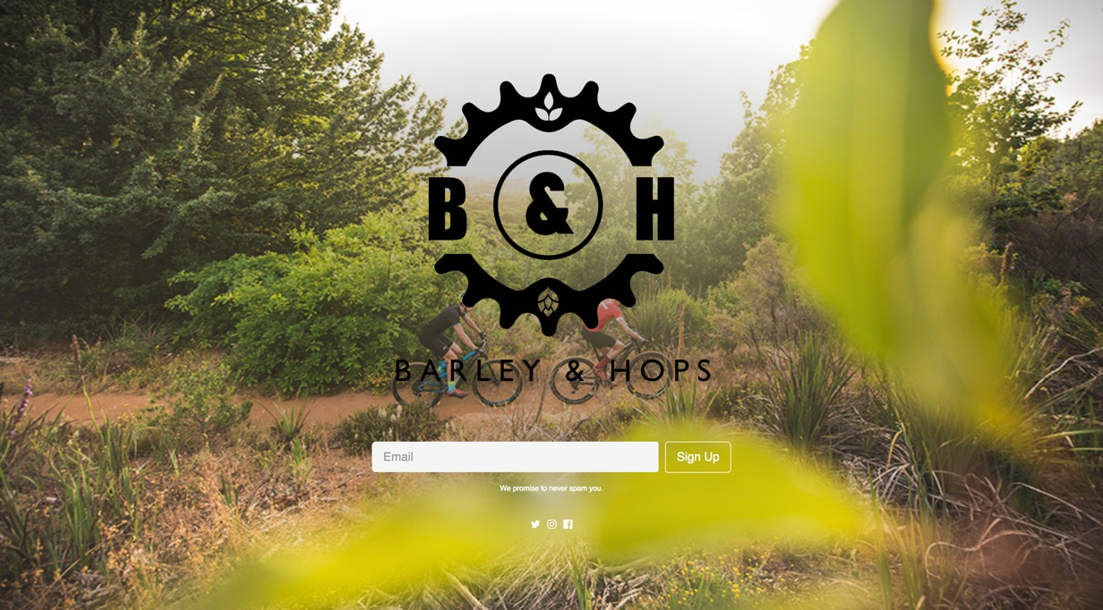An example of a Coming Soon page used by Barleyandhops.co.za