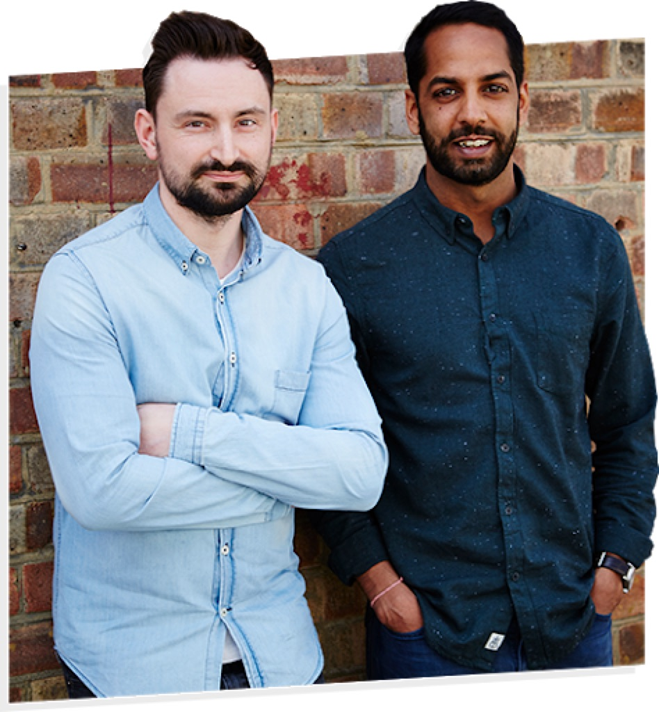 Neil Whippey and Shami Radia, the founders of Eat Grub