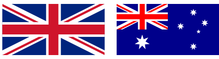 UK and Australia Flag