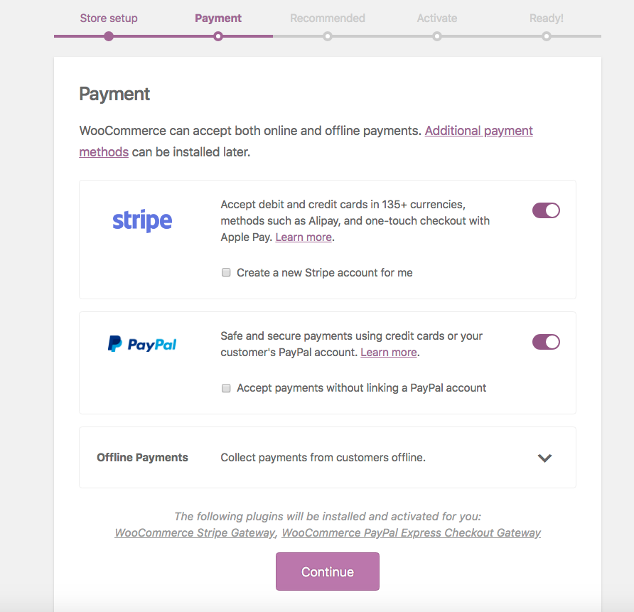 Select bank transfer, check, or COD. Additional payment gateways can be added later.