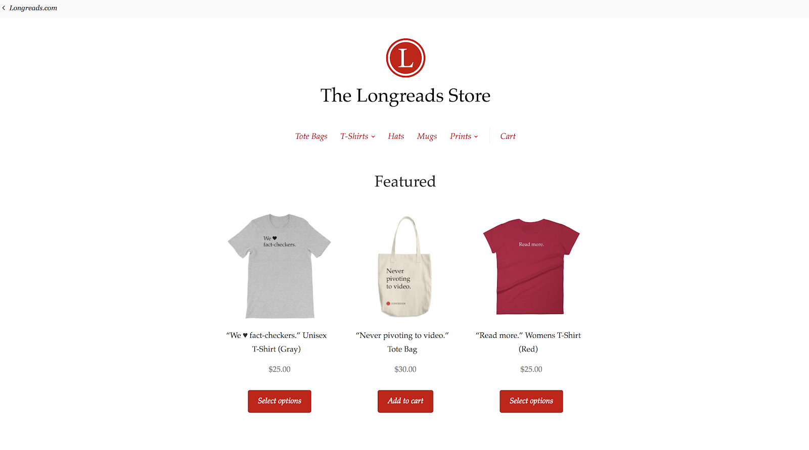 Building the Longreads Store with Printful and WooCommerce
