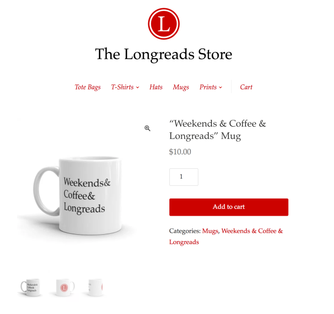 Longreads coffee mug
