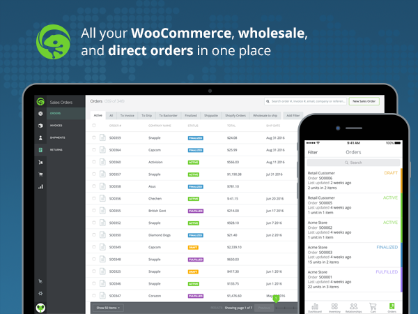 Tradegecko makes inventory management for WooCommerce easy by bringing everything into one place