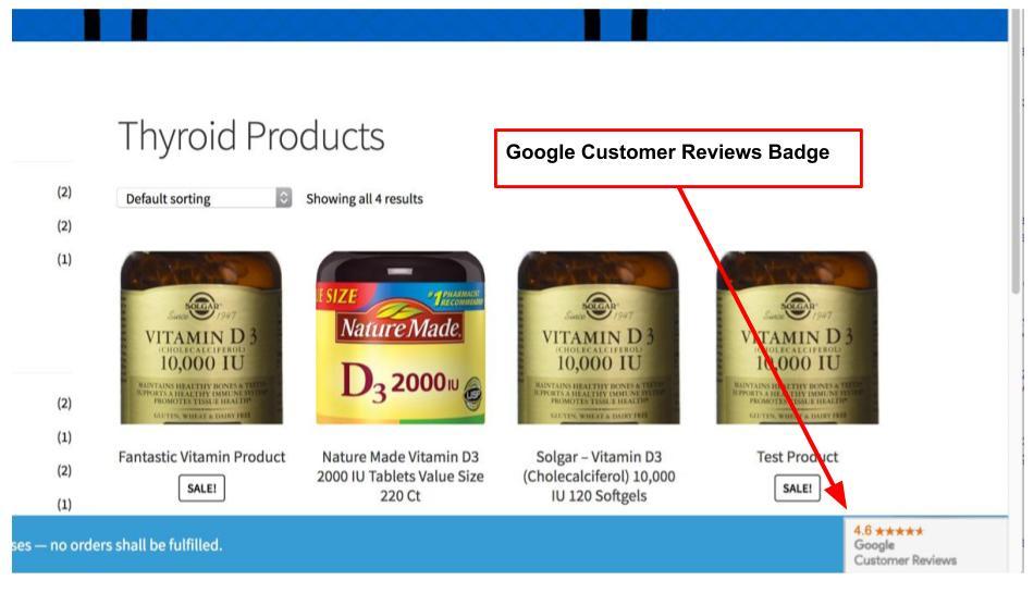 Google Merchant Center Customer Reviews Integration