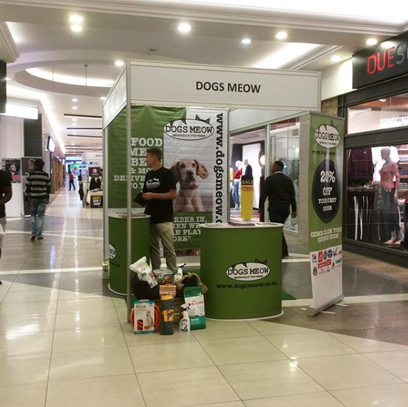 Promoting dogsmeow.co.za at the local mall