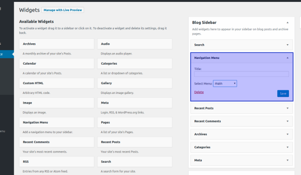 Use WordPress's Navigation Menu widget to add the language menu to a sidebar