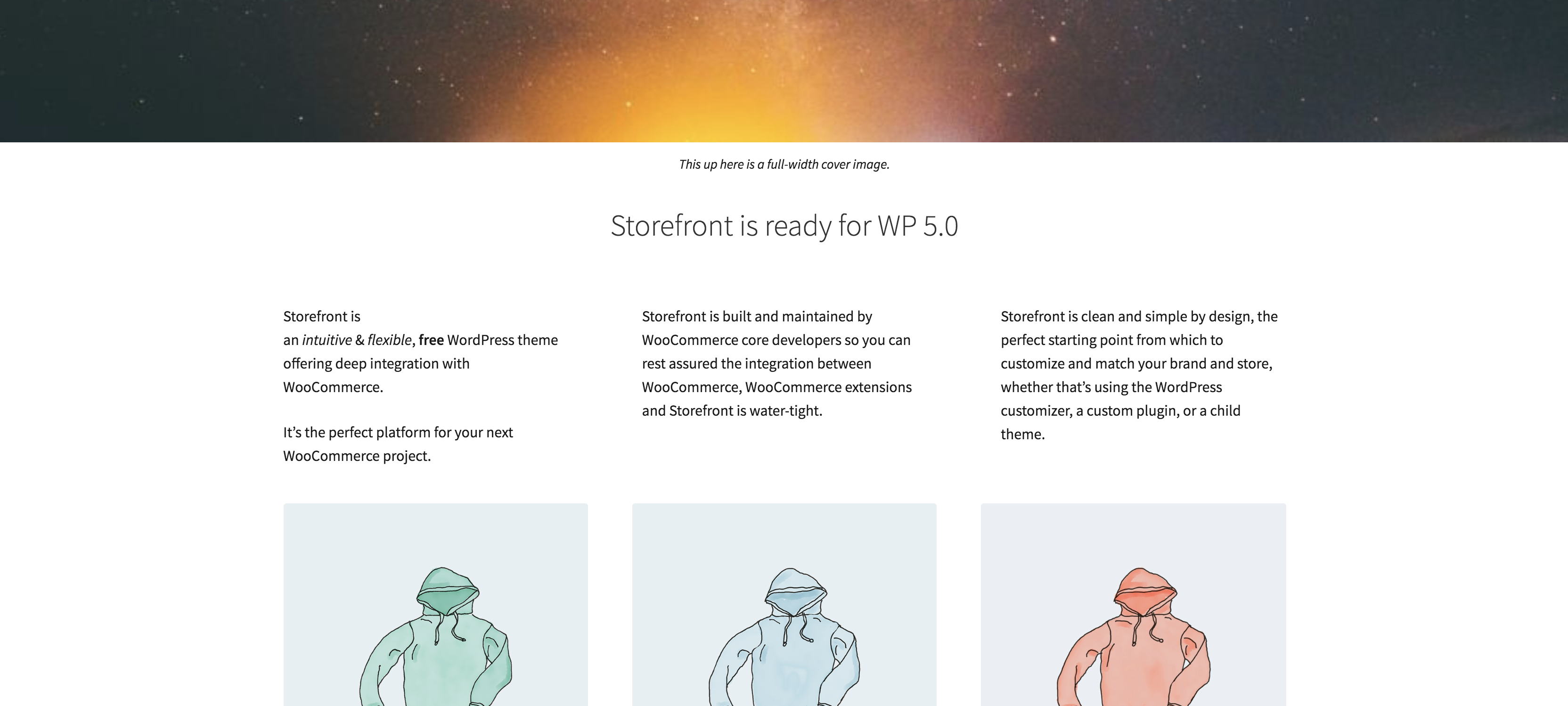 Storefront 2.4 and higher supports all of the new blocks introduced in WordPress 5.0
