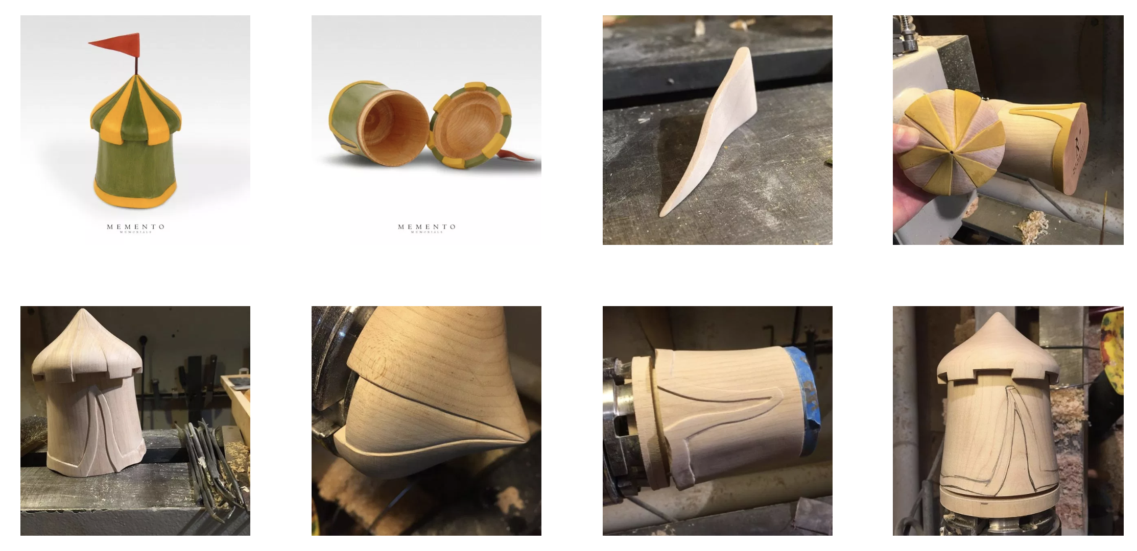 The process of creating a medieval tent urn.