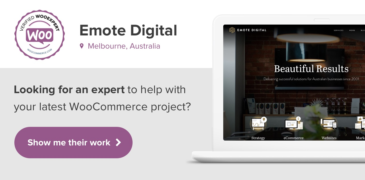 Emote Digital are WooCommerce Experts.