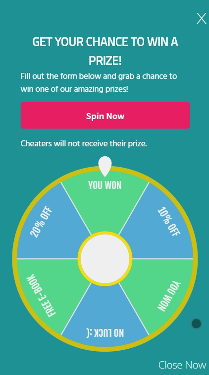 Spin and win prizes