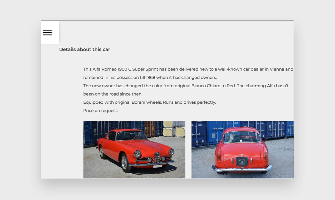 Screenshot from the Pagoda Classics website, showing how to use storytelling in product descriptions.