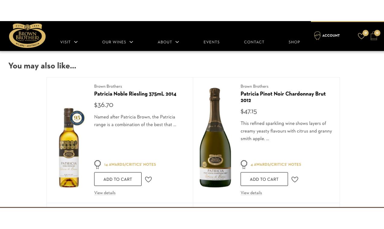 Brown Brothers korzysta ze strategii upsellingowych WooCommerce, takich jak te powiązane produkty