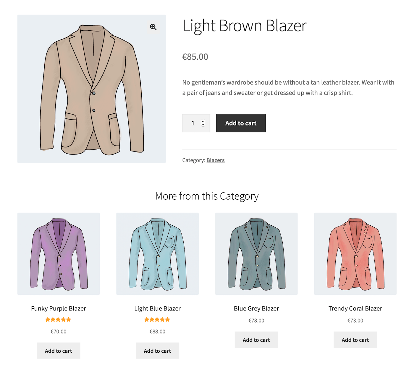 Create upsells, cross sells and related products by category or tag.