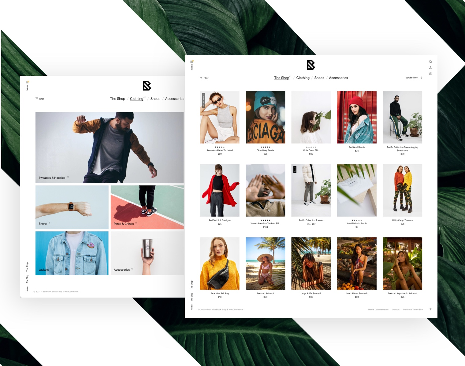 The WooCommerce Shop Catalog using the Block Shop Theme