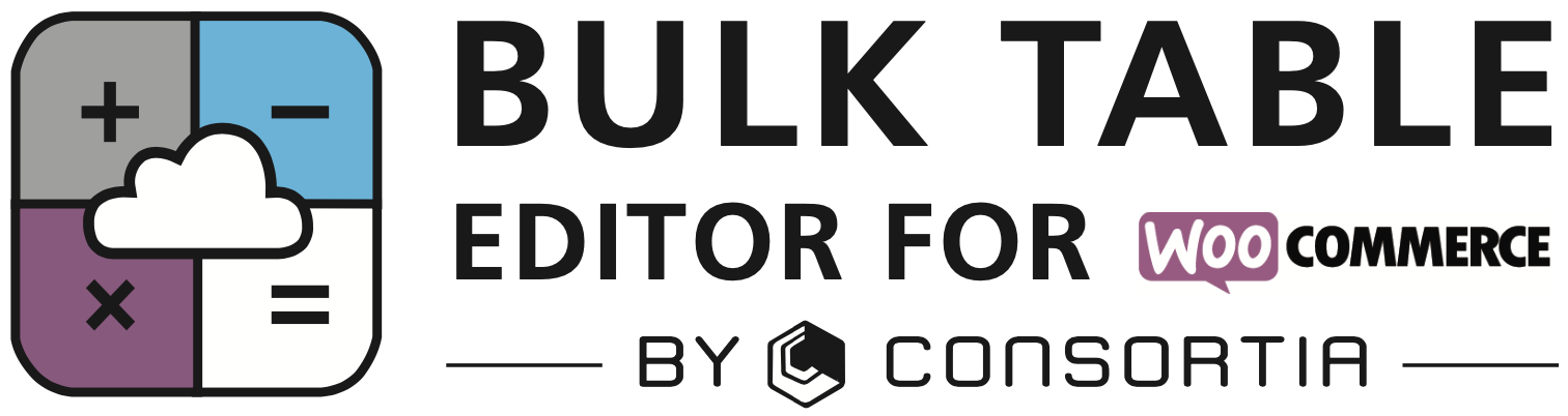 Bulk Table Editor for WooCommerce