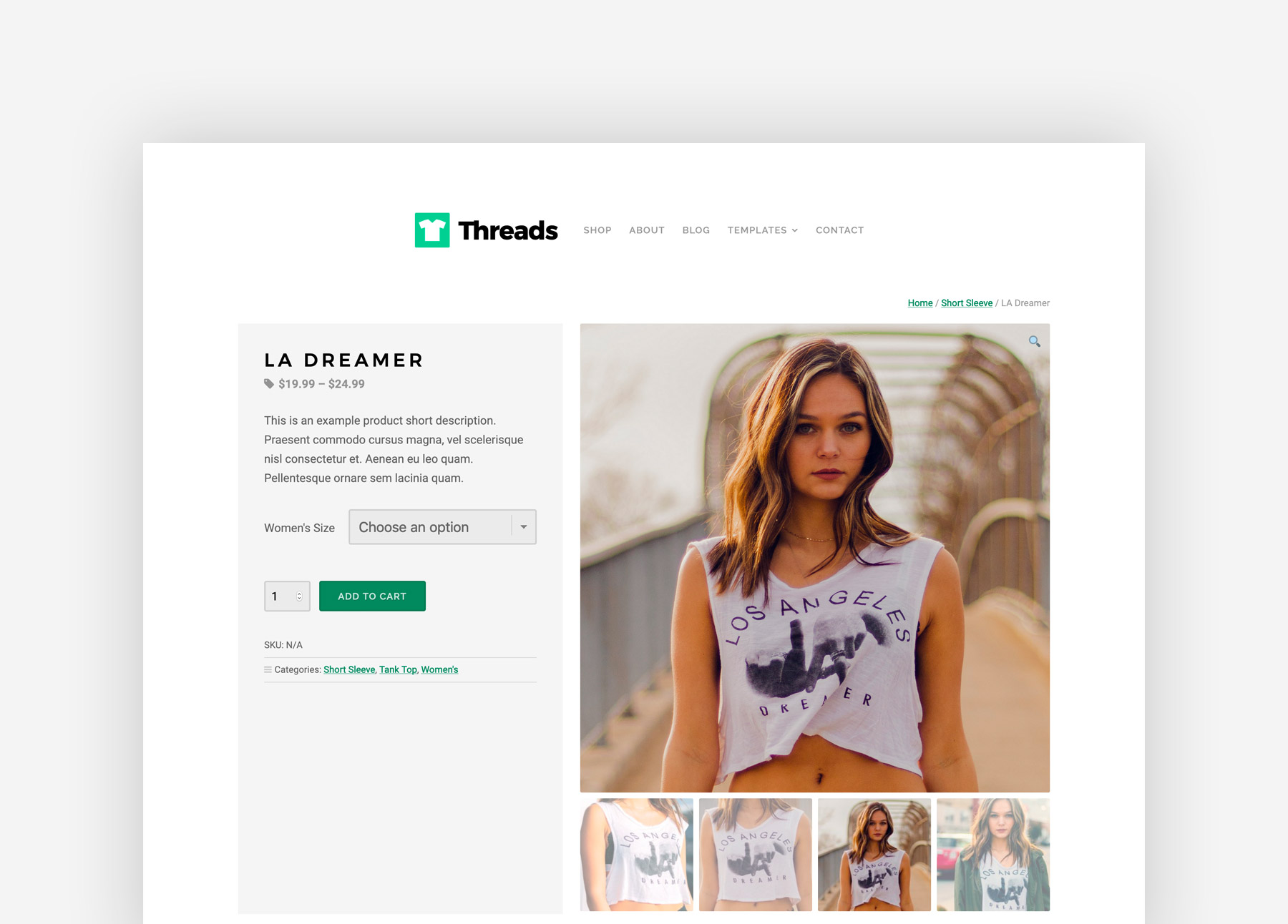 Threads Product Page