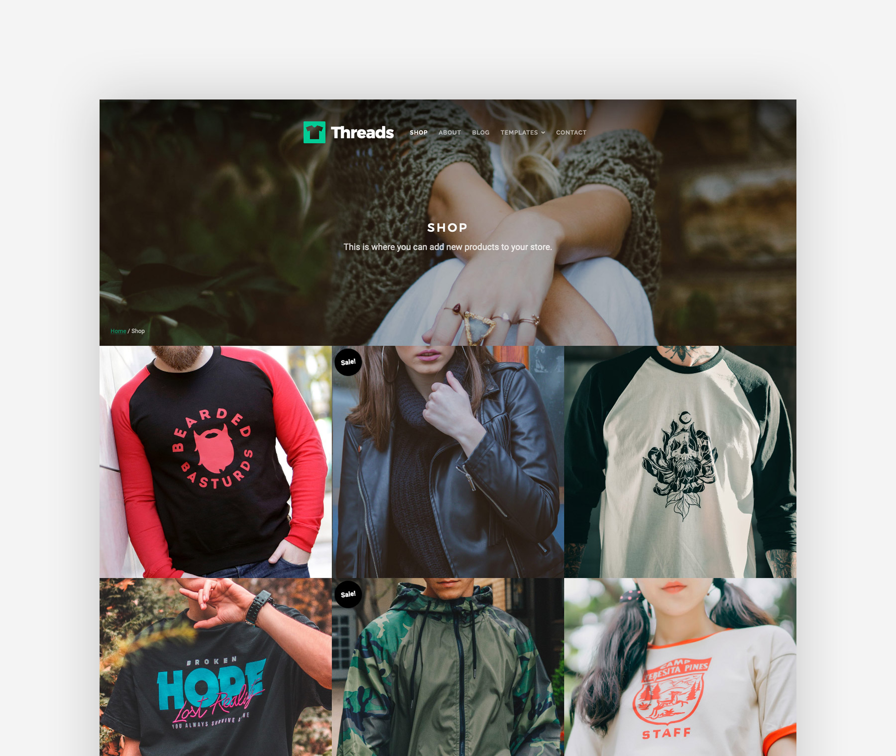 Threads Shop Page