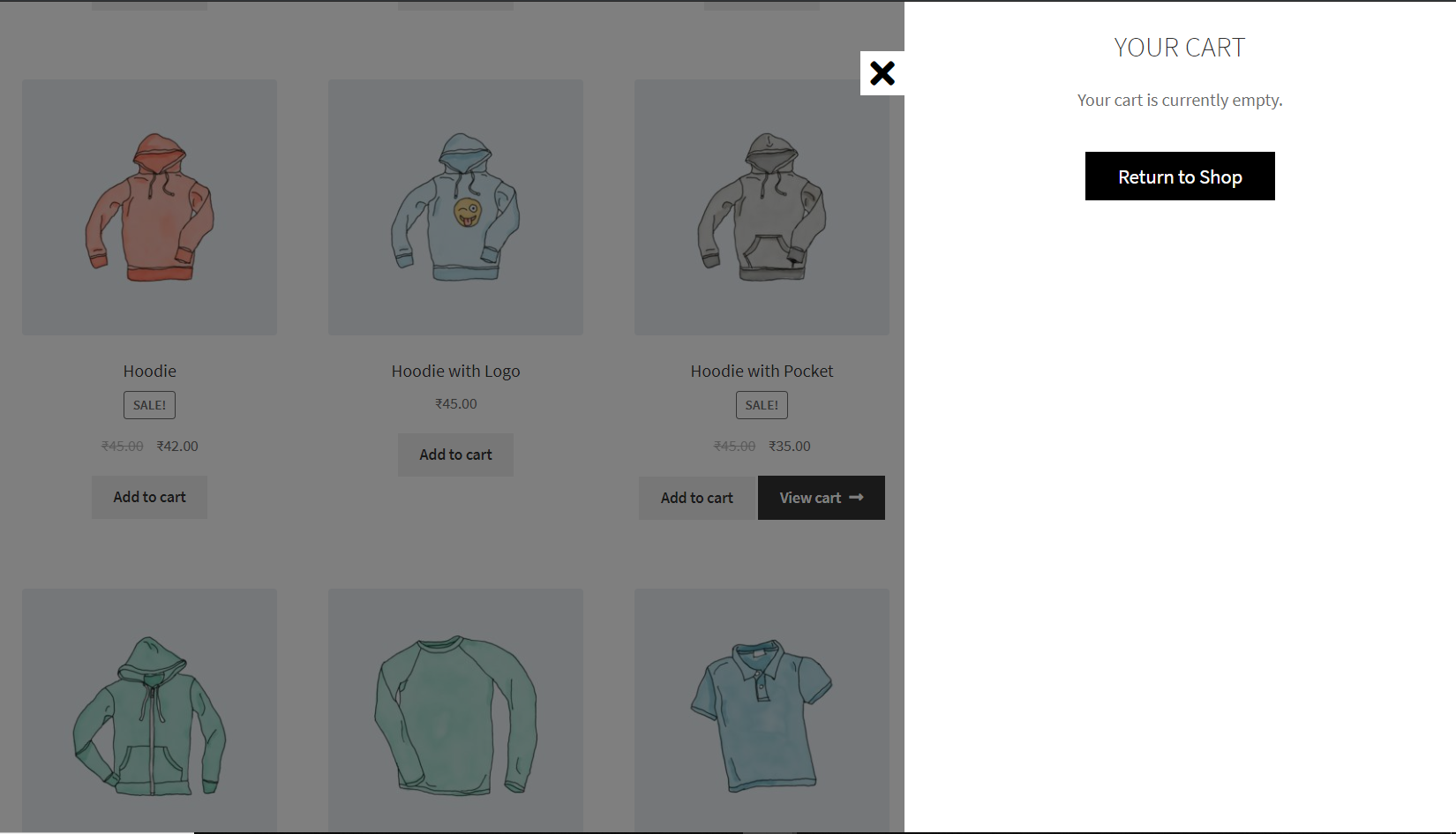 WooCommerce Smart Cart - Empty Cart
