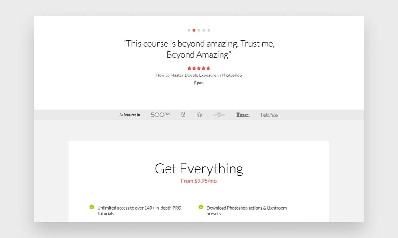 """otorite göstermek için """"Seçildiği gibi"""" kullanan web sitesinin ekran görüntüsü"""