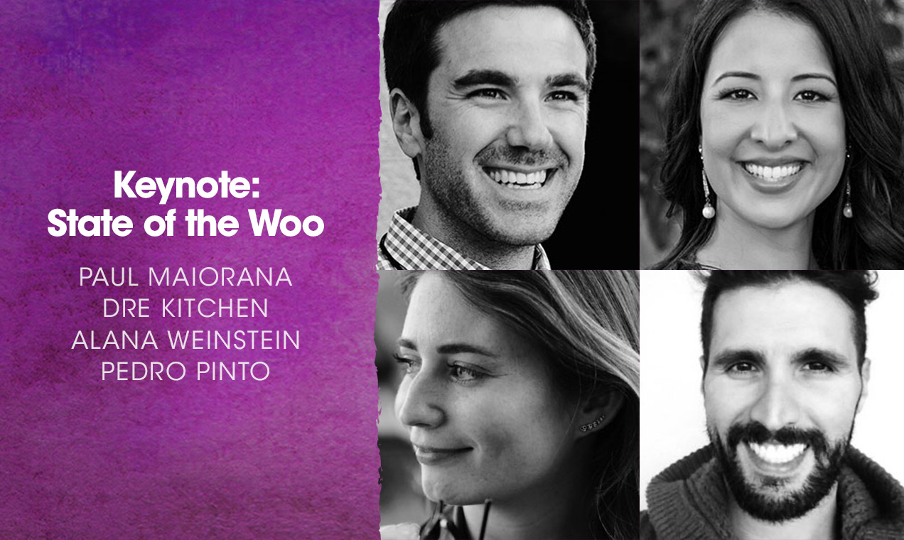 State of the Woo keynote speakers.