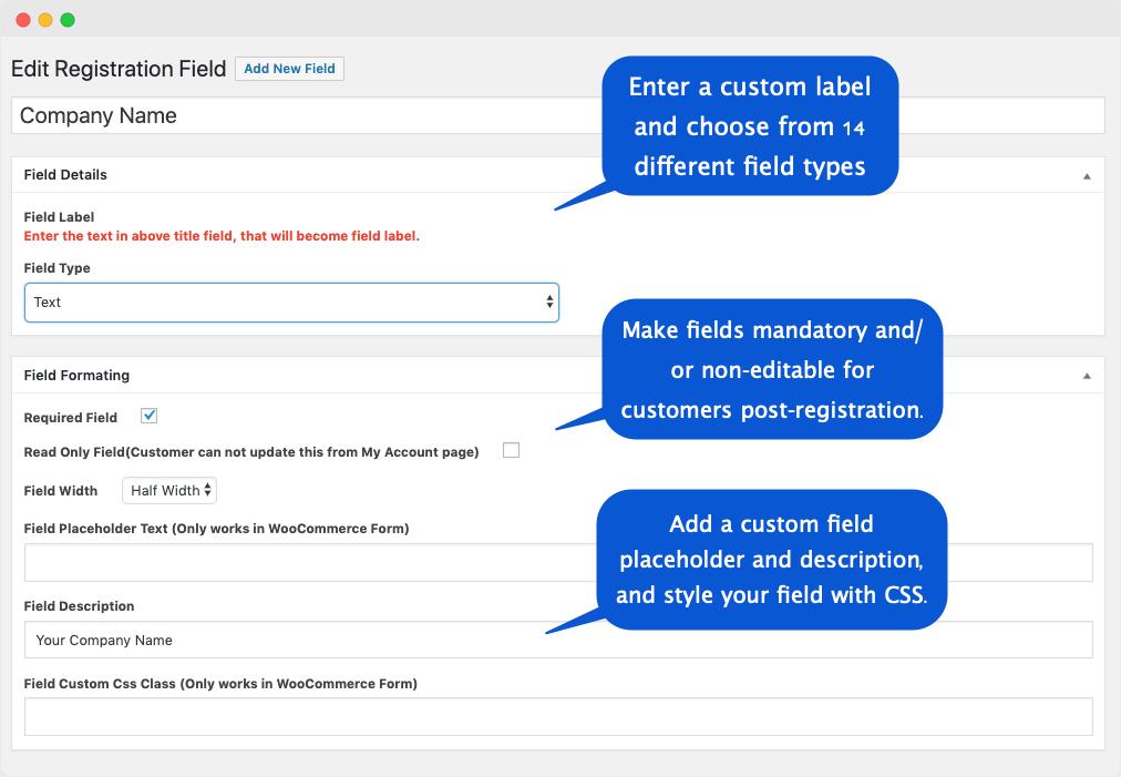 05 Wordpress Registration fields 1 1