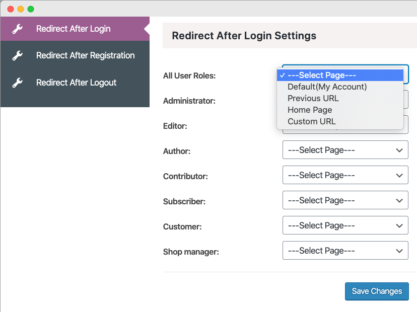 WordPress Redirect After Login