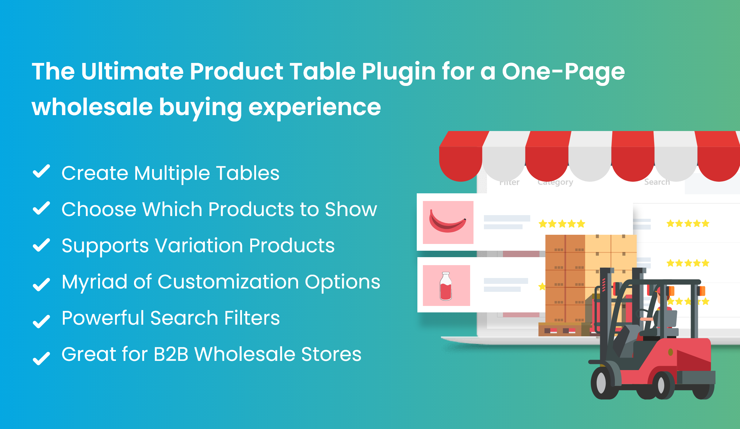 Product Table for WooCommerce