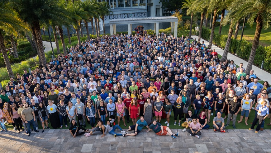 The Automattic team in Orlando, September 2019.
