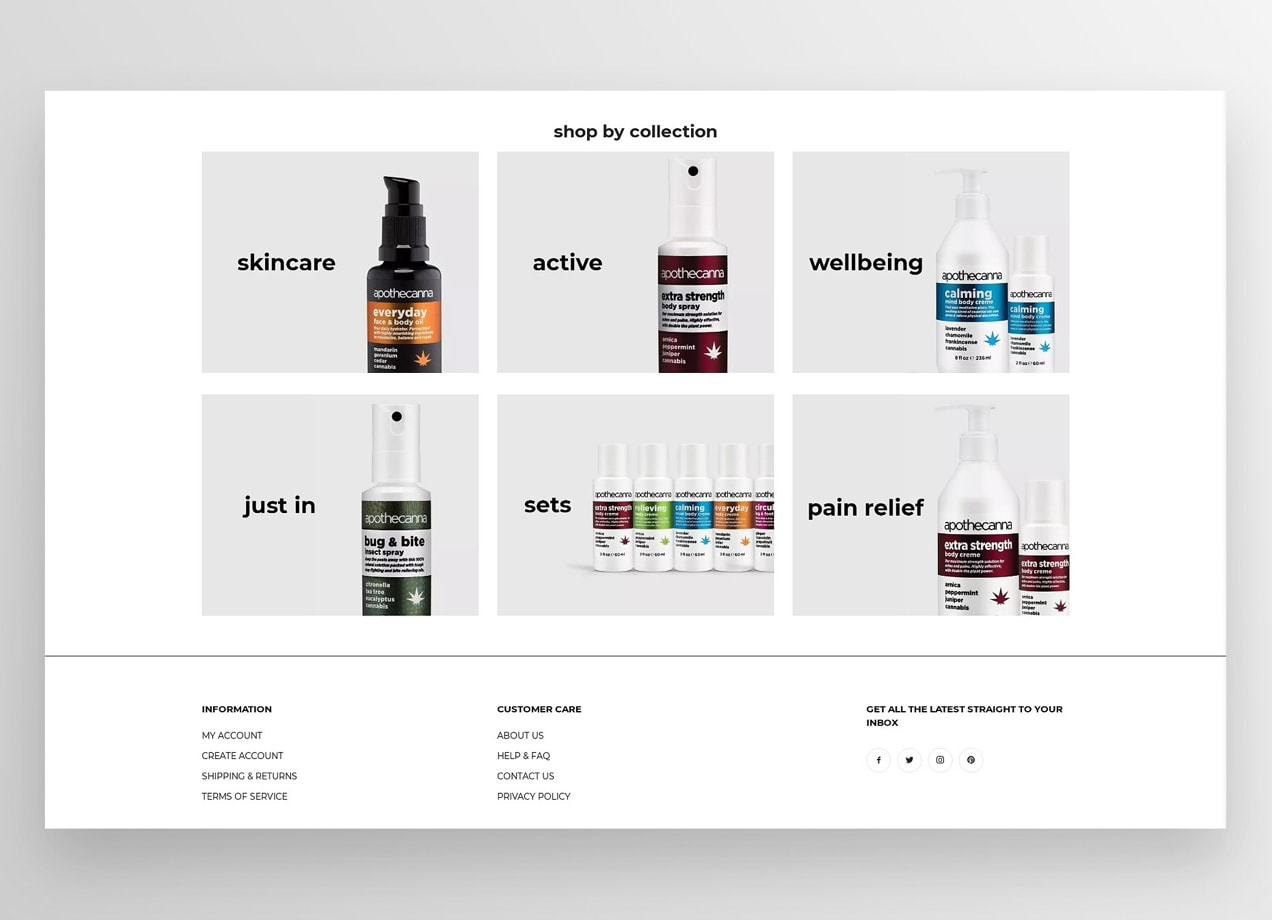 Apothecanna's CBD collections on WooCommerce