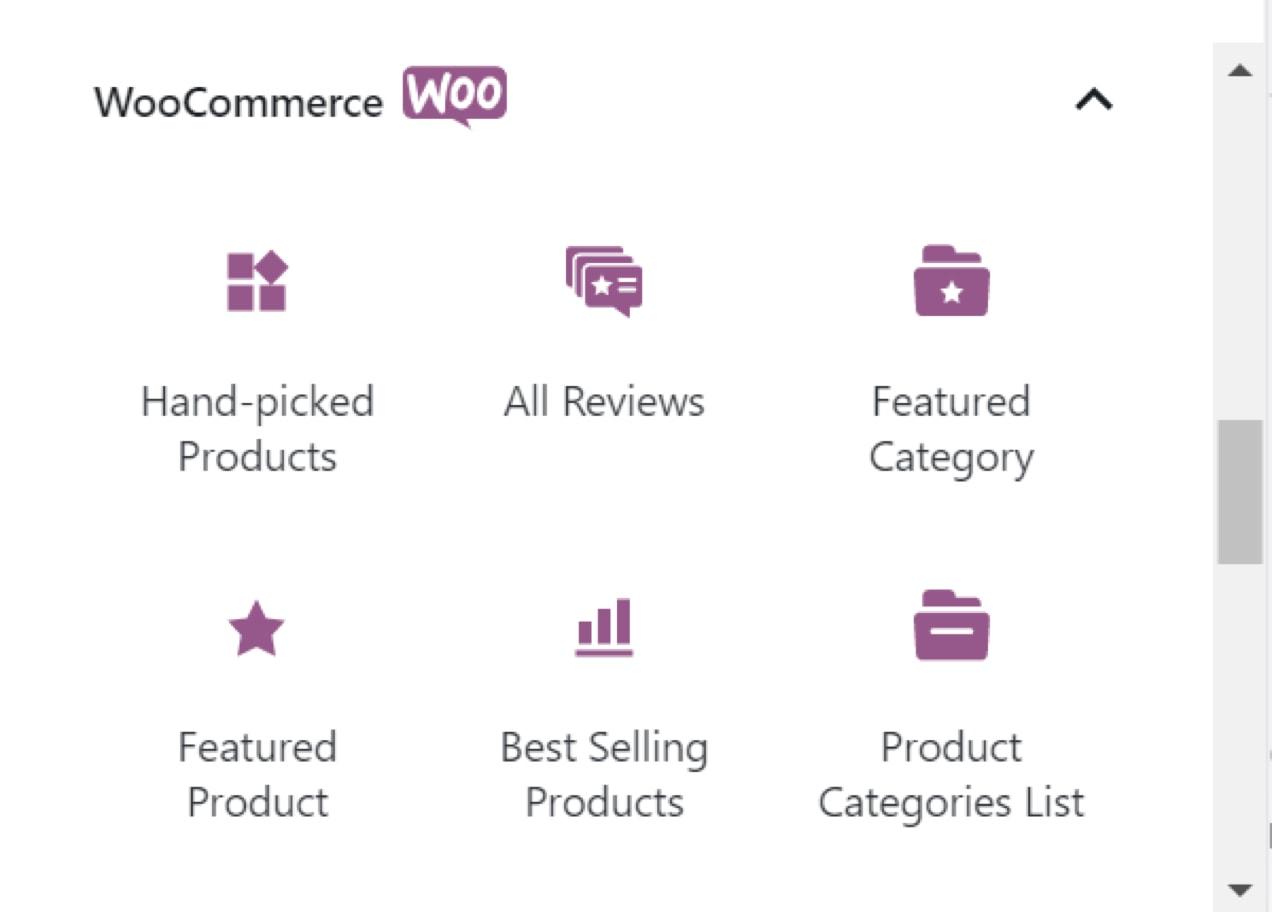 WooCommerce Block options