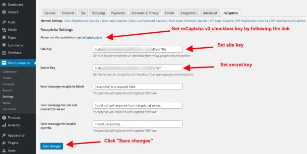 recaptcha-for-wooCommerce-settings-recaptcha-tab
