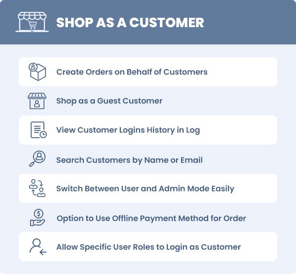 WooCommerce Shop as a Customer