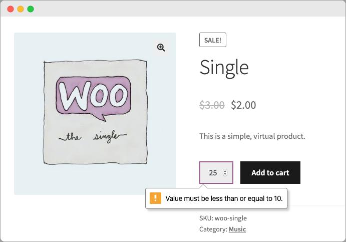 WooCommerce Min/Max Quantity