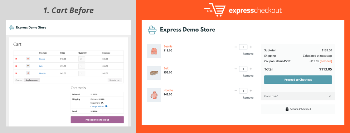 Cart - Express Checkout for WooCommerce