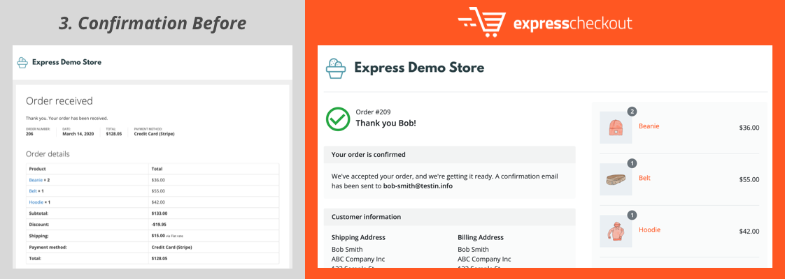 Confirmation - Express Checkout for WooCommerce