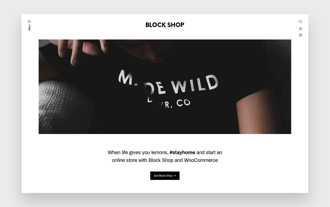 the Block Shop theme, built for efficiency