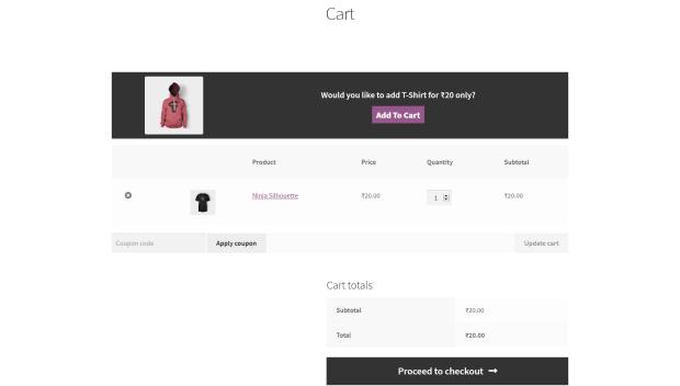 Cart Upsell for WooCommerce - WooCommerce