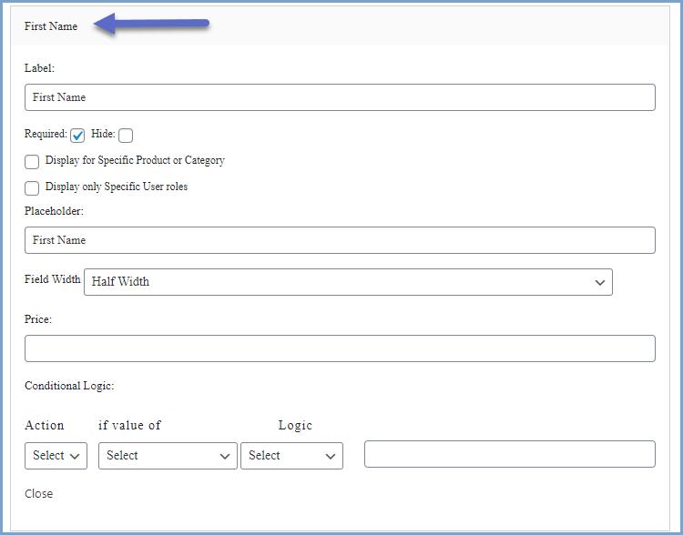 Modify the default checkout fields