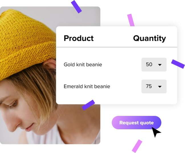 screenshots of request a quote for woocommerce