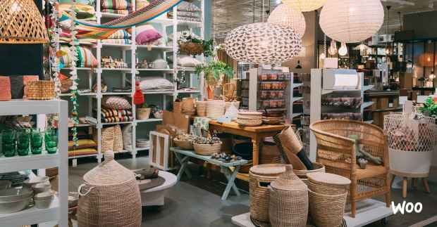 lots of home goods products in a store