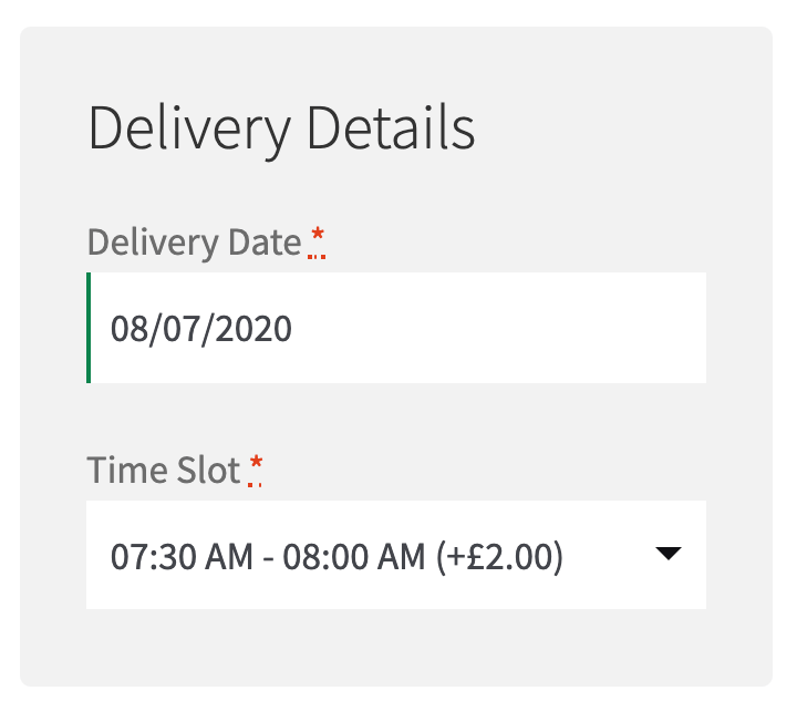 Delivery and Collection Date and Time at WooCommerce Checkout